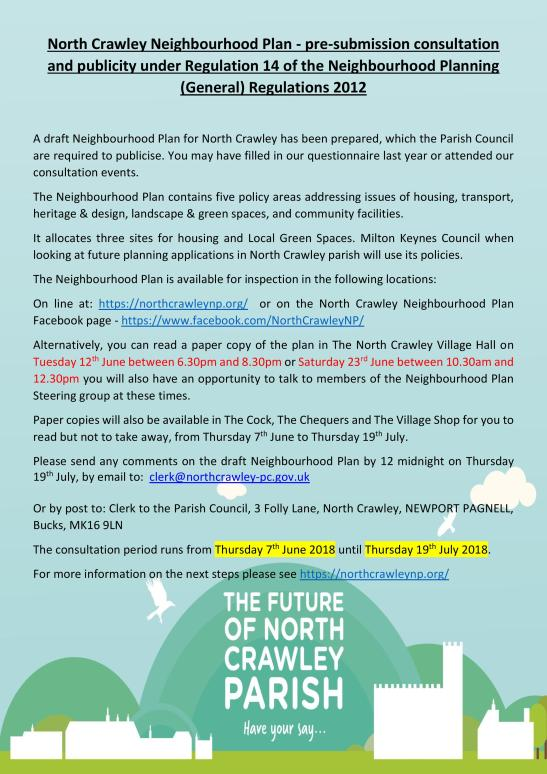 North Crawley NP Consultation Poster-page-001